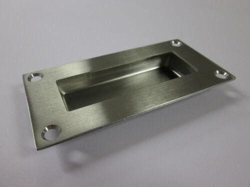 Satin Stainless Steel SSS Rectangular Flush Pull Sliding Door Handle Recessed