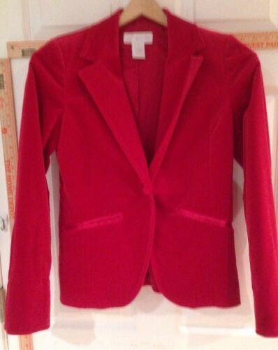 Women's 4 Marshall Field's Red Velvet Blazer - image 1