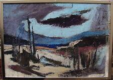 Helge Eskildsen 1922-1972, Landschaftskomposition mit dunkler Wolke, um 1960/70