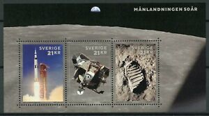 Sweden-2019-MNH-Apollo-11-Moon-Landing-50th-Anniv-3v-M-S-Space-Stamps