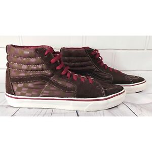 burgundy leather vans