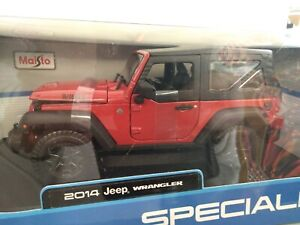 Miniature Food 1/18 Jeep Wrangler 2014 Rouge Rouge