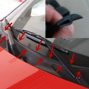 Car-Ageing-Rubber-Seal-Under-Front-Windshield-Panel-Sealed-Strips-Car-Accessory