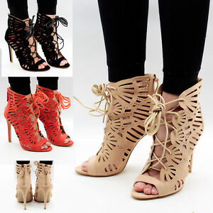Womens-Ankle-Strap-Sandals-Stiletto-Mid-High-Heel-Ladies-Peep-Toe-Party-Shoes