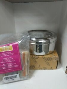 The Three Sisters Stainless Steel Masala Dabba Spice Box with Spices SPICE-BOX-SPICES