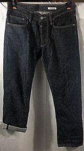 Gustin-Slim-Raw-Button-Fly-Jeans-Men-039-s-Size-33-Dark-San-Francisco-USA-RN116699