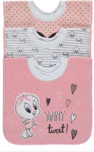 Brand New Baby Girl/'s Looney Tunes Tweety Pie Clothing Pyjamas Bibs
