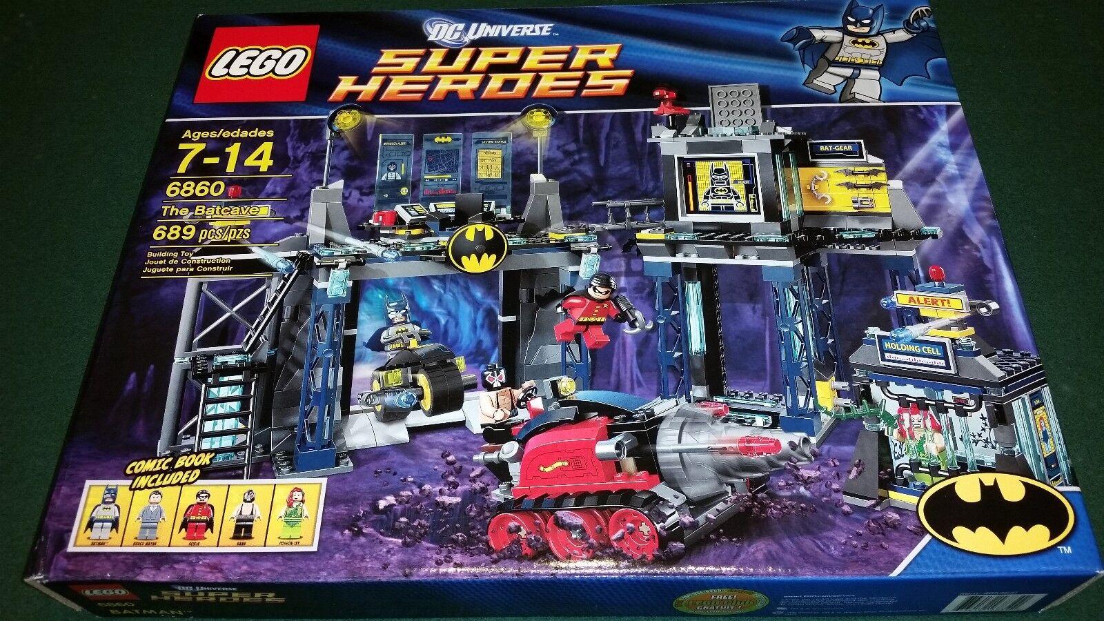 Lego Superheroes Batcave 6860 Batman Brand New Factory Sealed Retirot