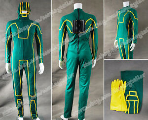Image is loading Kick-Ass-Cosplay-Costume-Dave-Lizewski-Green-Outfits-