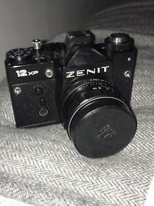 Zenit-12XP-Vintage-USSR-Black-Camera-With-Original-Leather-Case