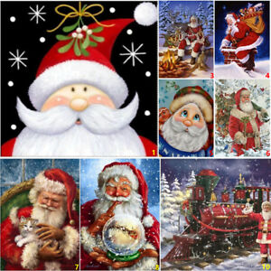 Full-Drill-Santa-Claus-DIY-5D-Diamond-Painting-Cross-Stitch-Kits-Home-Christmas