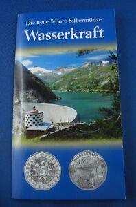 5 Euro Münze österreich Silber Ovp Wasserkraft Ebay