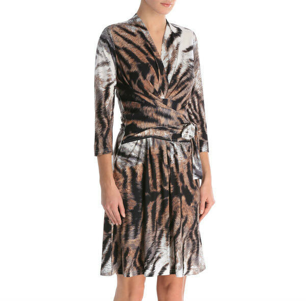 BNWT Leona by Leona Edmiston Animal Print Tie Dress Size 8 10 16