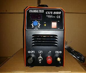Pilot Arc Plasma Cutter CUT50DF Inverter 50AMP 110V//220V Dual Voltage New Digita