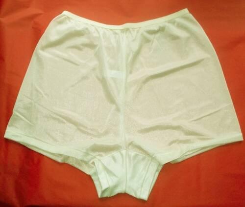 3 Pair Size 12 IVORY Flare Leg Nylon Tricot Panty  Like a Men/'s Boxer CLOSE OUT