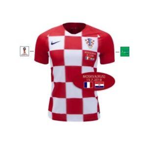 Details zu Trikot Nike Kroatien WM Finale 2018 Home [S bis XXL] Match Details Hrvatska