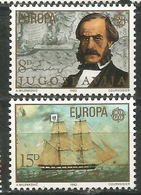 100% QualitäT Jugoslawien Europa Cept 1982 Ohne Briefmarkenfalz Mnh Tropf-Trocken Europa Briefmarken