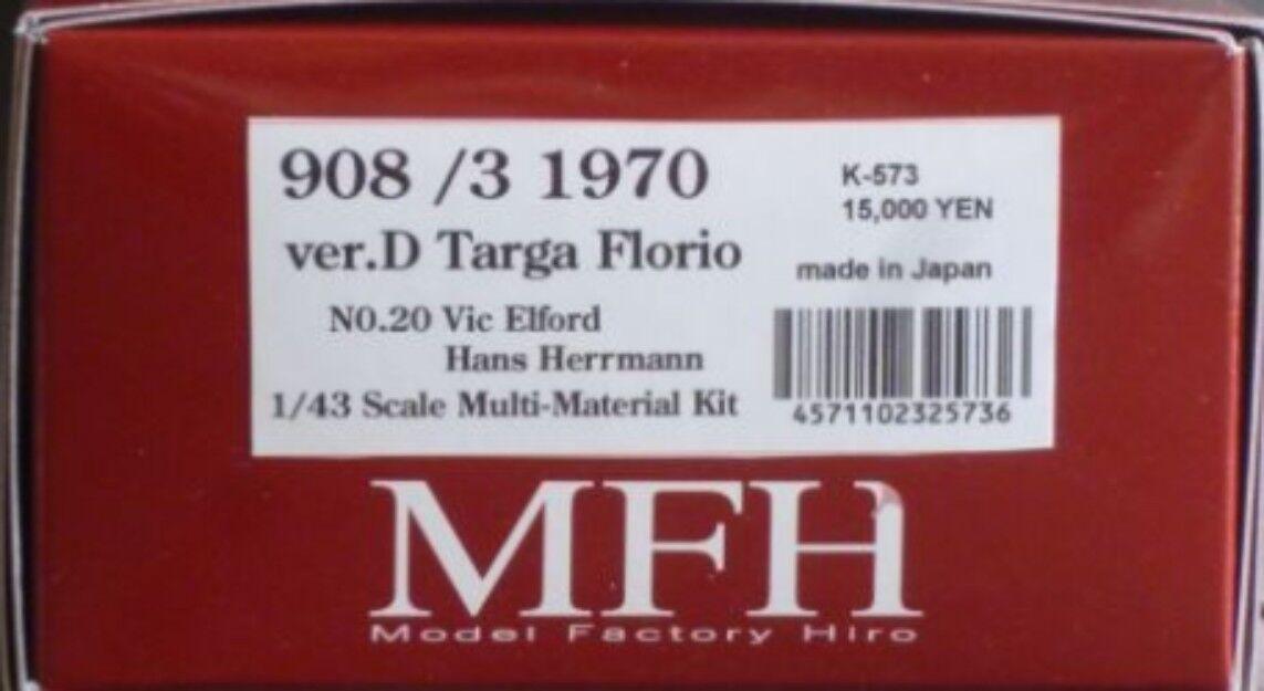 Model Factory Hiro 1 43 908 3 1970 Ver.d Targa Florio Full Detail Set K-573