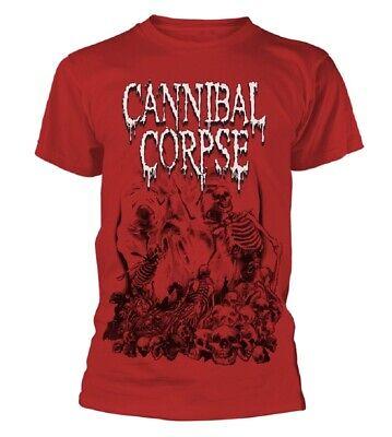 Aus Dem Ausland Importiert Cannibal Corpse T-shirts Herrenmode Pile Of Skulls 2018 Red T-shirt