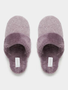 NEW-Sussan-Women-039-s-Fluffy-Chenille-Slipper-in-Pink