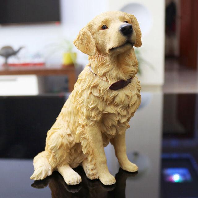 Resin MINI Golden Retriever dog Hand Painted simulation model Figurine  statue