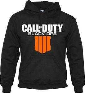 Felpa-con-cappuccio-nuova-CALL-OF-DUTY-BLACK-OPS-4-video-gioco-PS4-XBOX-ONE-Kids-MEN-039-S-PULLOVER