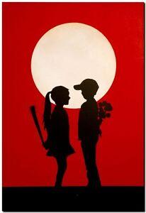 Image is loading BANKSY-STREET-ART-CANVAS-PRINT-love-hurts-8-