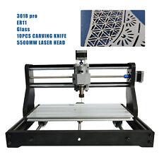 Diy Mini Laser Cnc Engraving Machine Kit Pcb Milling Machine5500mw Laser Head