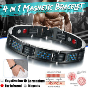 4-en-1-Bracelet-Magnetique-Anti-Douleurs-Arthrose-Rhumatisme-Therapie-Unisexe-FR
