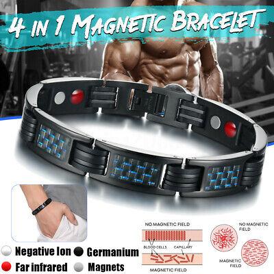 Perte de poids rond pierre noire Thérapie Magnétique Bracelet Health Care biomagnétisme
