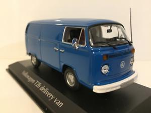 Maxichamps 940053061 Volkswagen T2 Delivery Van bluee 1972 Scale 1 43