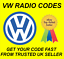 VW VOLKSWAGEN RADIO CODE UNLOCK CODE FOR ALL RCD MODELSRNS 300 310 315