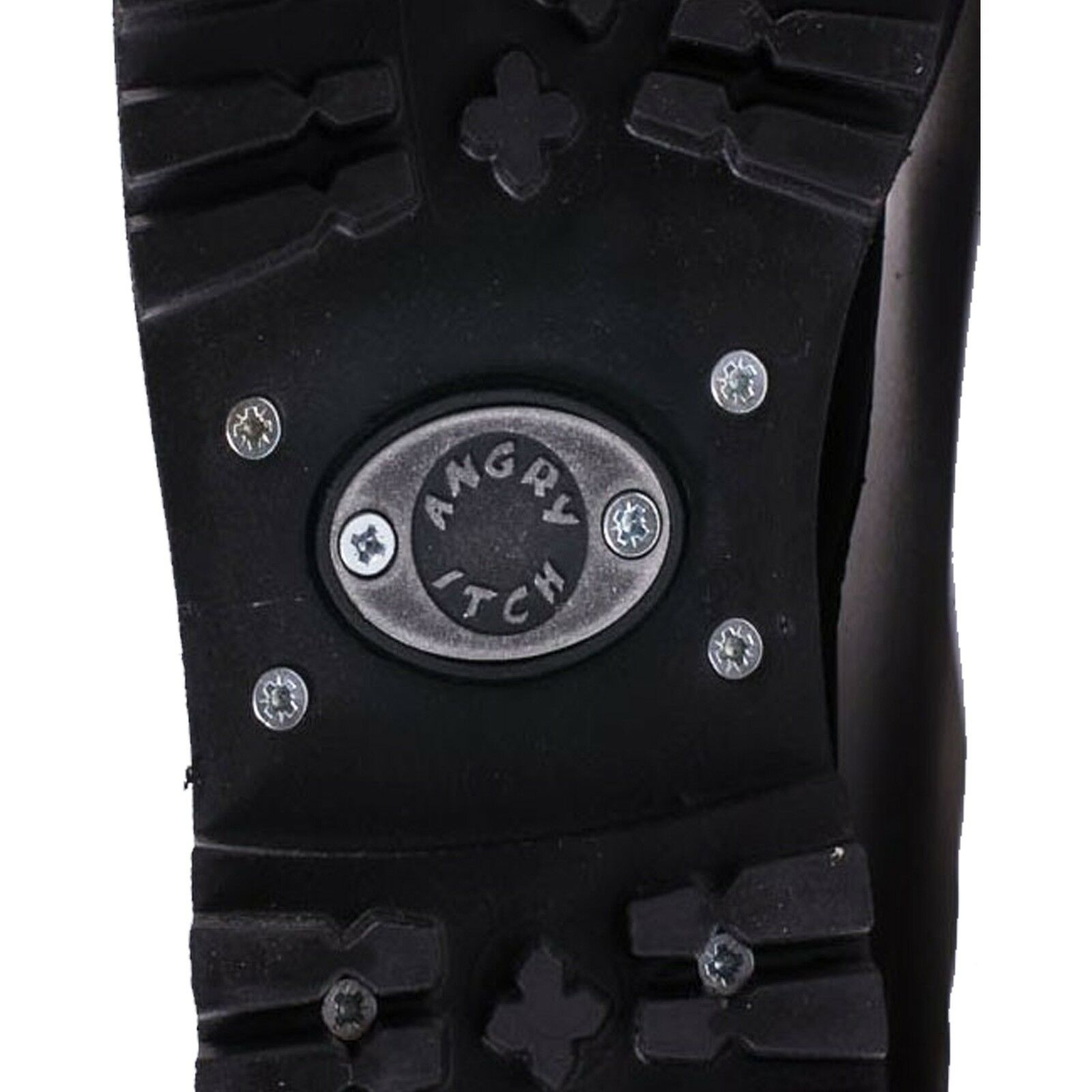 Angry Itch - 8-Loch Burgundy Rub off Gothic PunkLeder Stiefel mit Stahlkappe Mad