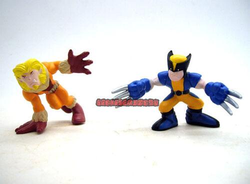 Marvel Super Hero Squad Wolverine Sabertooth Figure Loose Set