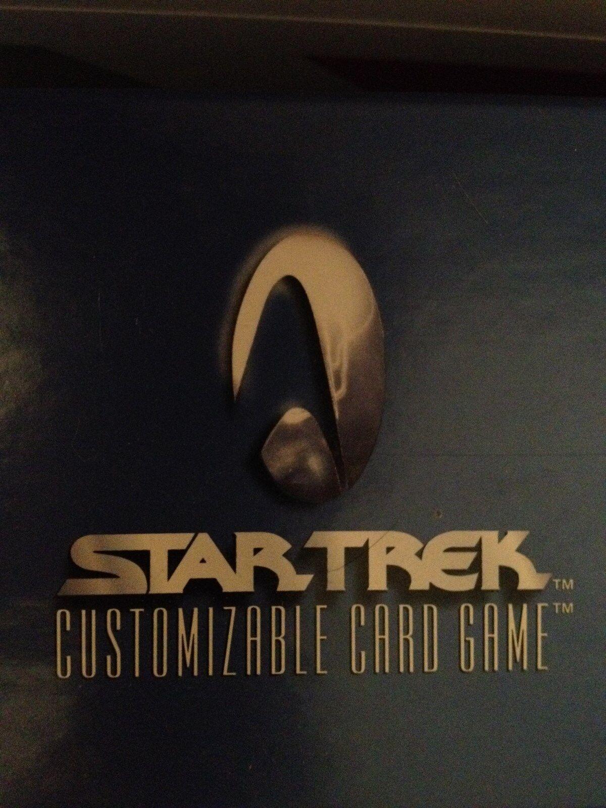 Star Trek CCG 1E Premiere Unlimited ALPHA 1994 RARE ONLY 121 CD Set Ex Condition