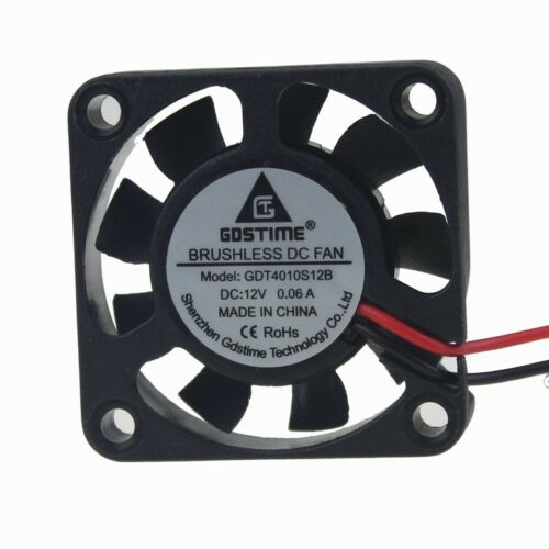 5pcs Lot 12V 40x40x10mm Brushless Cooling Cooler Fan 4cm 40mm 4010S 2pin 9blades
