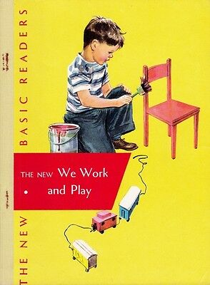 VINTAGE DICK AND JANE 1956 PRE-PRIMER We Work and Play EXCELLENT UNUSED reader