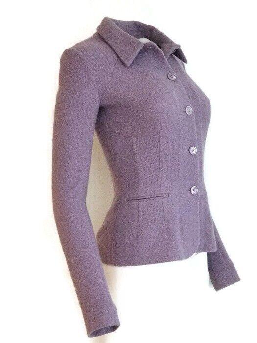 1.700 Ralph Lauren Purple Label Women's Liliac Button Down Knit Blazer 0 XS