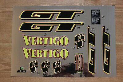 Reproduction 1994 GT Performer BMX Decal Set Chrome Backing