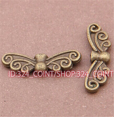 P542 20pc Antique Bronze Angel wings Pendant Bead Charms Accessories wholesale