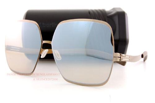 Shiny Bronze//Cinnamon Mirror For Women Brand New ic!berlin Sunglasse Angelina T