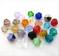 100pcs/300pcs/500pcs 4mm #5301 colorful Bicone glass crystal beads.Choose color#