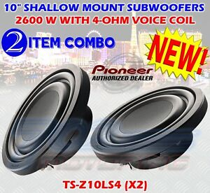 """PIONEER (2) TS-Z10LS4 10"""" SUBWOOFERS WITH 4-OHM VOICE COIL 1300 WATTS ONE PAIR"""