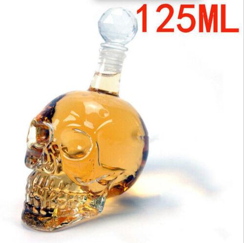Crystal Skull Head Whiskey Vodka Wine Decanter Bottle Glass Beer Spirit
