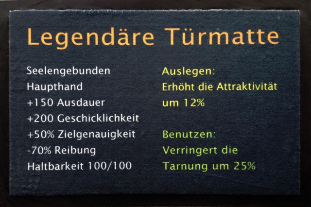 Legendäre Türmatte - Fußmatte, Größe: 60 x 40 cm, Material Polypropylen