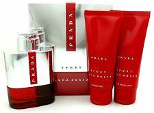 Prada Luna Rossa Sport Eau de Toilette Spray 3.4 oz.+Gel+Balm Set.Sealed Box.