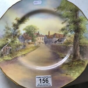 """Royal Worcester Cabinet Plate Singed D Wilson 11"""""""