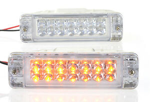 LED-Indicators-PAIR-Signal-turn-lamps-lights-Fits-ARB-Bullbar-135mm-x-38mm