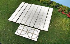 HO Scale Laser Cut  Aged Sidewalks - 340 Scale Feet
