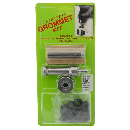 """3//8/"""" Hole W// Black Grommets C.S Osborne Set-It-Yourself Grommet Kit K233-2"""